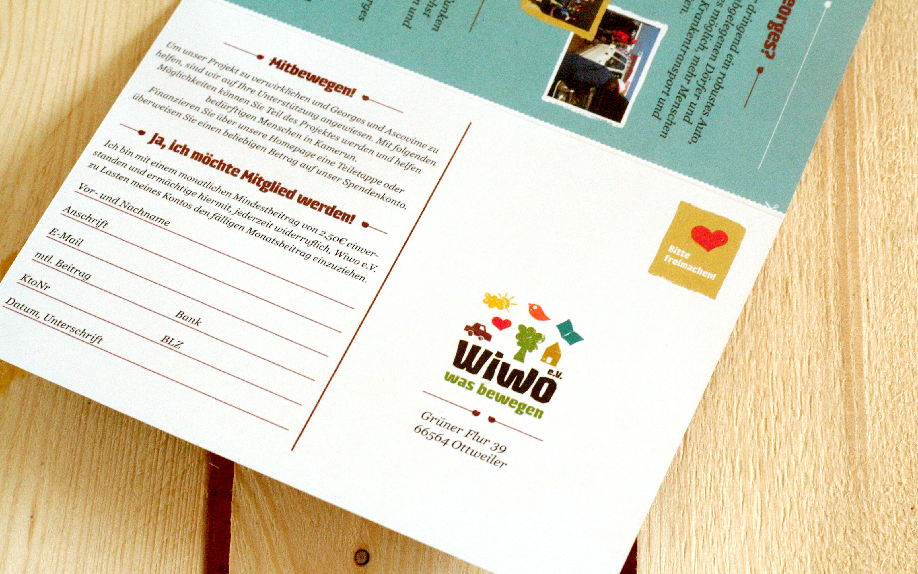 maniana-design wiwo aktionsflyer spende